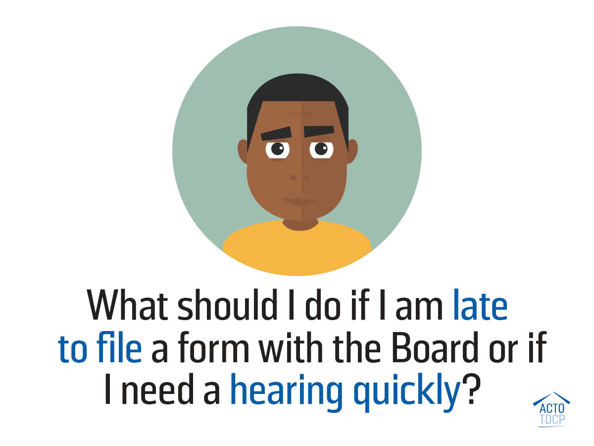 How to get an LTB hearing quickly