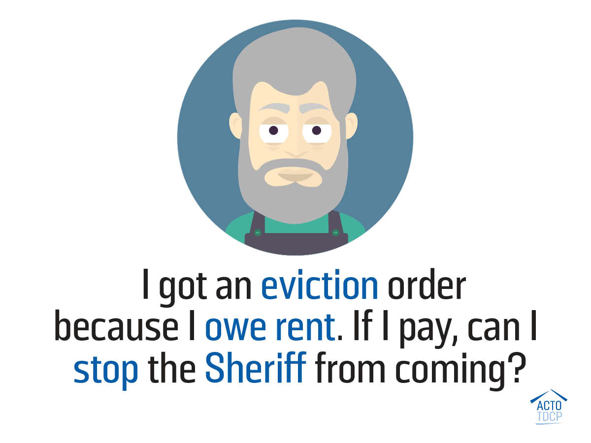 Eviction Order and Sheriff process