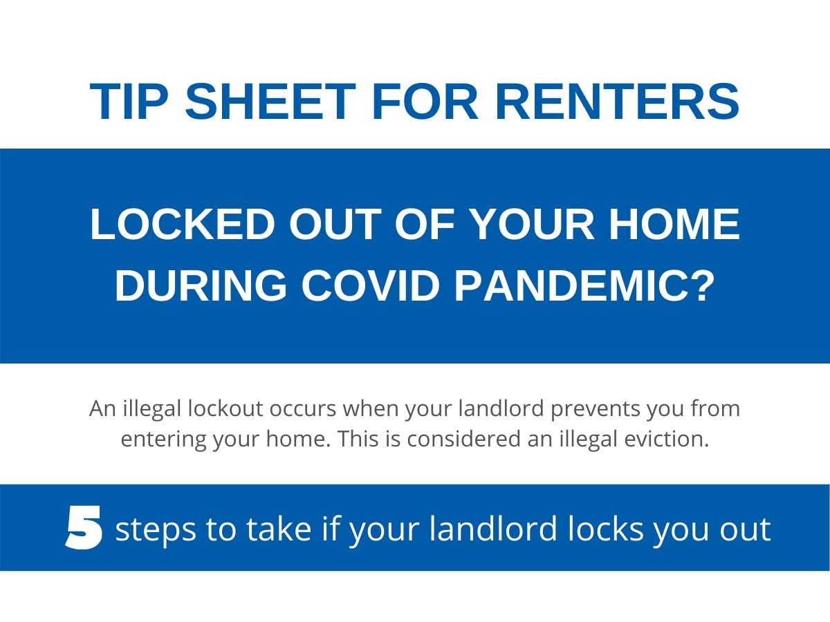 Tip sheet - Illegal lockout during covid pandemic