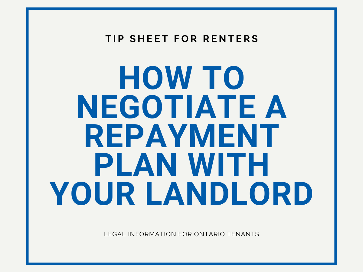 How to negotiate a repayment plan with your landlord